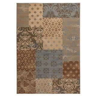 Rizzy Home Carrington Collection Power-loomed Abstract Multi Rug (5'3 x 7'7)