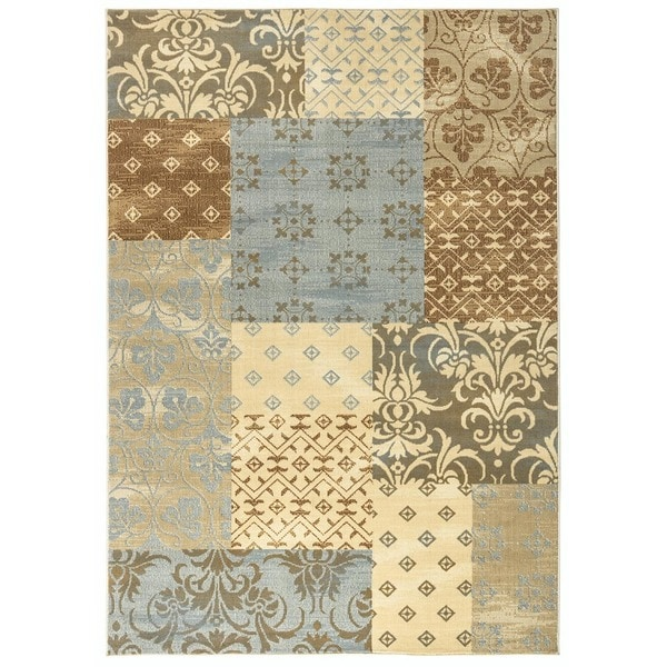 "Rizzy Home Carrington Collection Power-loomed Abstract Multi Rug (5'3 x 7'7) - 5'3"" x 7'7"""