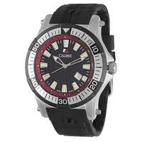 Calibre Hawk Men's Swiss Quartz Rubber Strap Watch