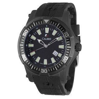 Calibre Hawk Date Mens Black Dial Watch