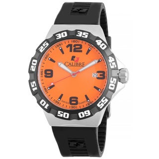 Calibre Lancer Mens Orange Dial Watch