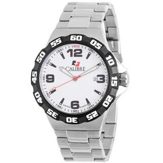 Calibre Lancer Mens White Dial Watch