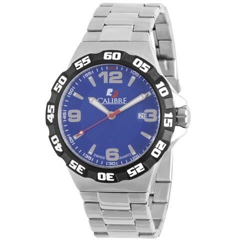 Calibre Lancer Men's Swiss Quartz Divers Stainless Steel Bracelet Watch