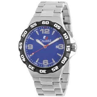 Calibre Lancer Men's Swiss Quartz Divers Stainless Steel Bracelet Watch|https://ak1.ostkcdn.com/images/products/10362877/P17470406.jpg?impolicy=medium