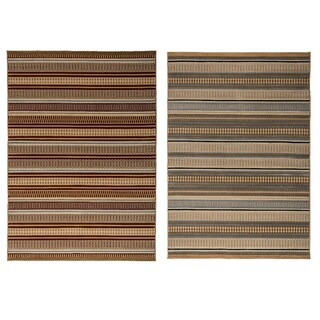 Rizzy Home Millington Collection Power-loomed Geometric Grey/ Gold Rug (7'10 x 10'10)
