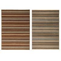 Rizzy Home Millington Collection Power-loomed Geometric Grey/ Gold Rug (6'7 x 9'6) - 6'7 x 9'6