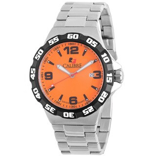 Calibre Lancer Mens Orange Dial Watch