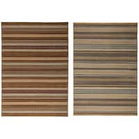 """Rizzy Home Millington Collection Power-loomed Geometric Grey/ Gold Rug (5'3 x 7'7) - 5'3"""" x 7'7"""""""