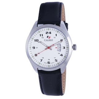 Calibre Trooper Mens White Dial Watch