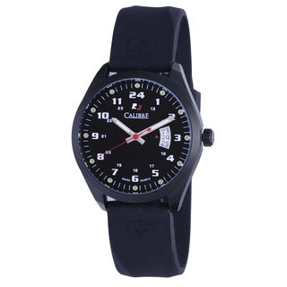 Calibre Trooper Mens Black Dial Watch