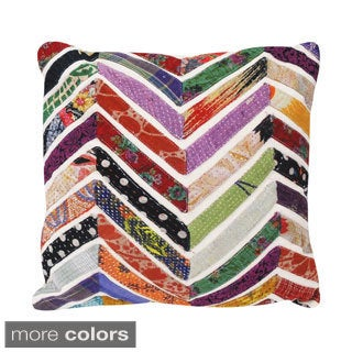 Vintage Chevron Square Accent Pillow (India)