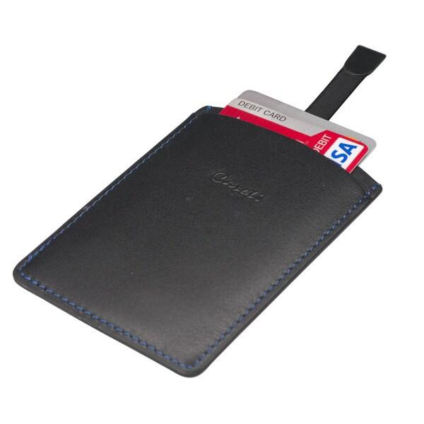 Caseti Albert Black Leather Business Card Holder