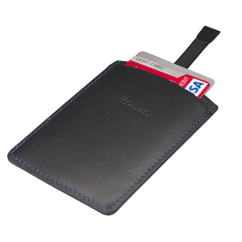 Caseti Albert Black Leather Business Card Holder