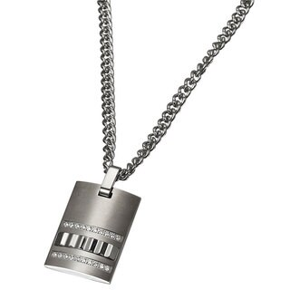 Caseti Stainless Steel and Tungsten Pendant with Chain