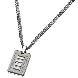 Caseti Wolfram Stainless Steel and Tungsten Pendant with Chain