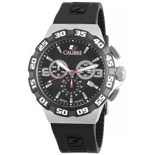 Calibre Lancer Men's Swiss Quartz Chronograph Rubber Strap Watch|https://ak1.ostkcdn.com/images/products/10362988/P17470652.jpg?impolicy=medium