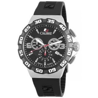 Calibre Lancer Men's Swiss Quartz Chronograph Rubber Strap Watch