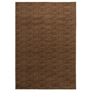 Rizzy Home Millington Collection Power-loomed Solid Brown/ Ivory Rug (6'7 x 9'6)