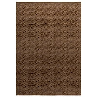 Rizzy Home Millington Collection Power-loomed Solid Brown/ Ivory Rug - 6'7 x 9'6