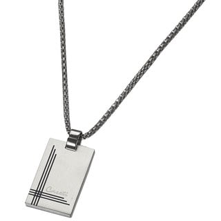 Caseti Gaspar Brushed Stainless Steel Pendant Necklace