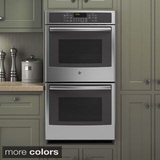 GE Black 27-inch Built-in Double Convection Wall Oven
