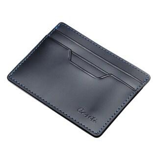 Caseti Lyon Black Leather Money Clip