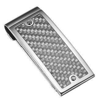 Caseti Indarra Silver Carbon Fiber Money Clip