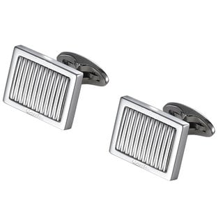 Caseti Grill Lined Stainless Steel Cufflinks