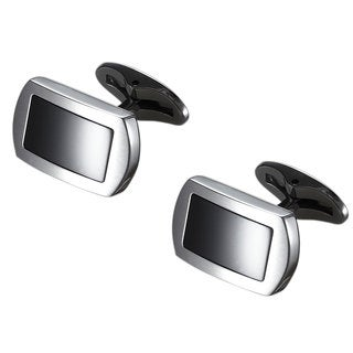 Caseti Turbo Stainless Steel and Black Onyx Cufflinks