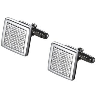 Caseti Grid Stainless Steel Cuff Links