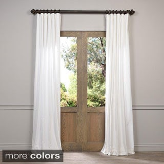Exclusive Fabrics Vintage Cotton Velvet 84-inch Length Curtain
