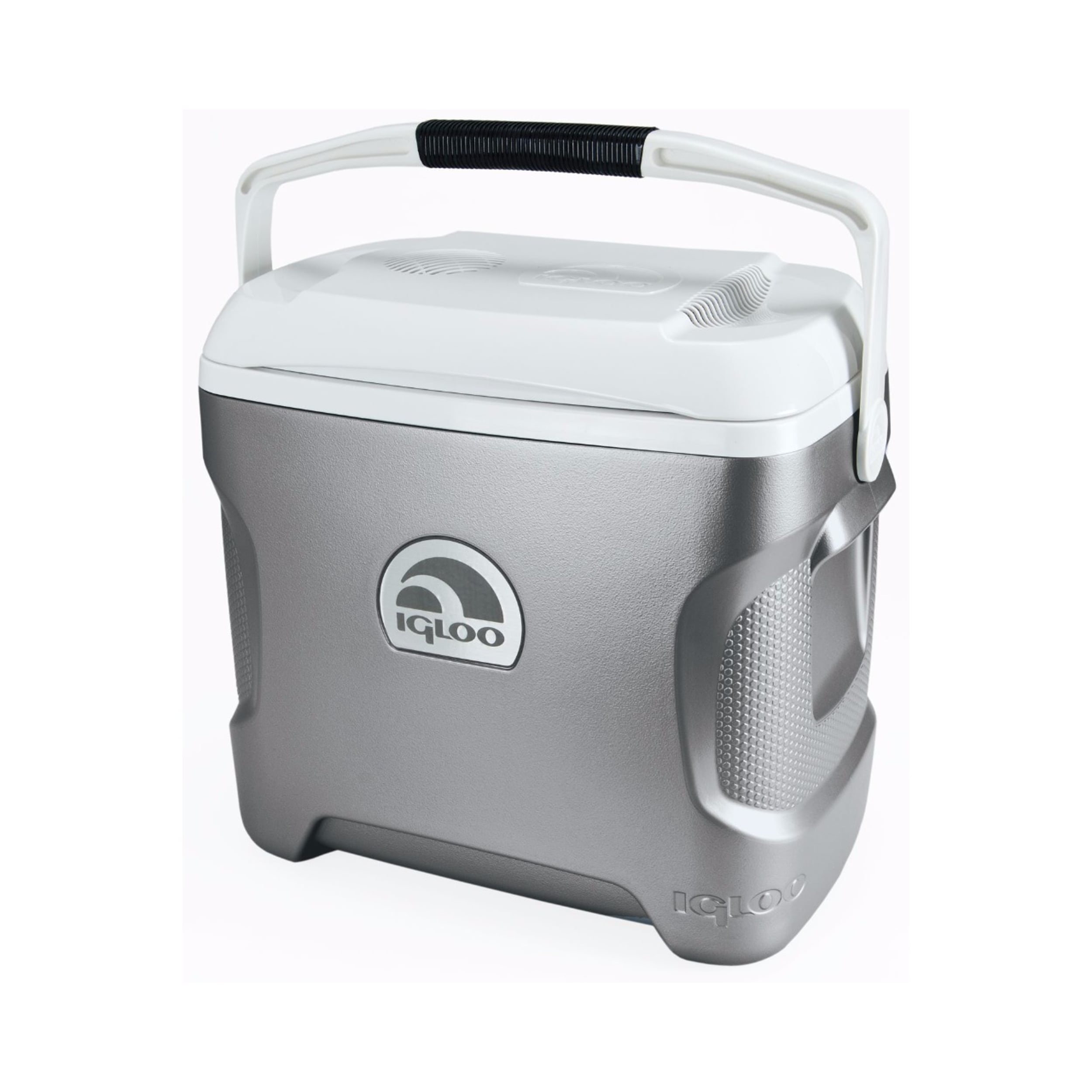Igloo Iceless 28 Cooler, Silver/White (Thermoplastic)