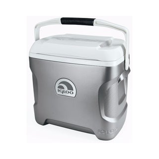 Igloo Iceless 28 Cooler - SIlver/White