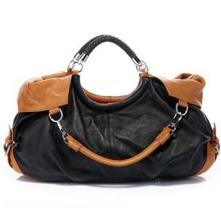 Vicenzo Leather Maselle Italian Leather Tote Handbag