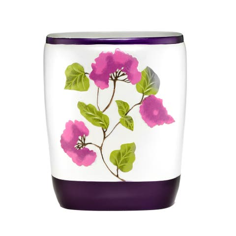 Beautiful Water Color Style Lilac Motif Bath Accessory Collection- 7 Options