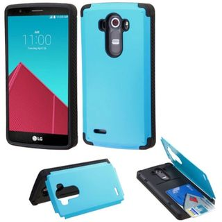 Insten Slim Hard Snap-on Rubberized Matte Phone Case Cover with Card Slot For LG G4
