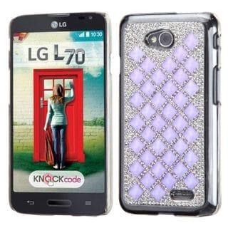 Insten Hard Snap-on Diamond Bling Phone Case Cover For LG Optimus Exceed 2 VS450PP Verizon/ Optimus L70 / Realm