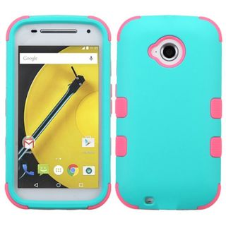 Insten Tuff Hard PC/ Soft Silicone Dual Layer Hybrid Rubberized Matte Phone Case Cover For Motorola Moto E 2nd Gen