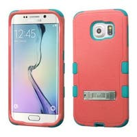 Insten Hard PC/ Soft Silicone Dual Layer Hybrid Rubberized Matte Phone Case Cover with Stand For Samsung Galaxy S6 Edge