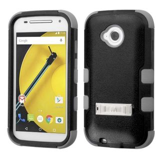 Insten Hard PC/ Soft Silicone Dual Layer Hybrid Rubberized Matte Phone Case Cover with Stand For Motorola Moto E 2nd Gen