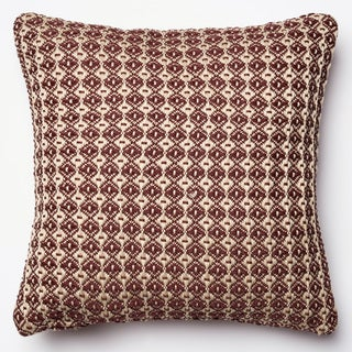Indoor/ Outdoor Hudson Brick/ Beige Polyester Filled 18-inch Throw Pillow or Pillow Cover