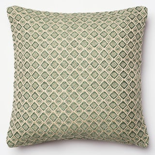 Indoor/ Outdoor Hudson Green/ Beige Polyester Filled 18-inch Throw Pillow or Pillow Cover