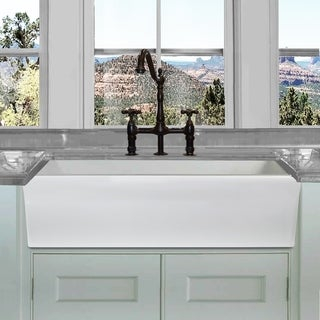 Link to Highpoint Collection 36-inch Reversible Italian Fireclay Farmhouse Sink Similar Items in Sinks