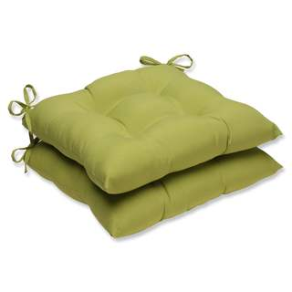 Pillow Perfect Outdoor/ Indoor Fresco Pear Wrought Iron Seat Cushion (Set of 2)