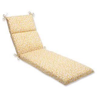 Pillow Perfect Outdoor/ Indoor Snow Leopard Sunburst Chaise Lounge Cushion