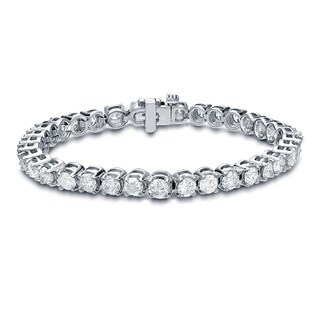 Auriya 14k White Gold 15ct TDW Diamond Bracelet