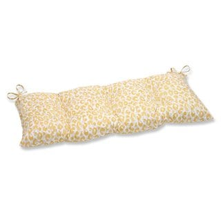 Pillow Perfect Outdoor/ Indoor Snow Leopard Sunburst Swing/ Bench Cushion