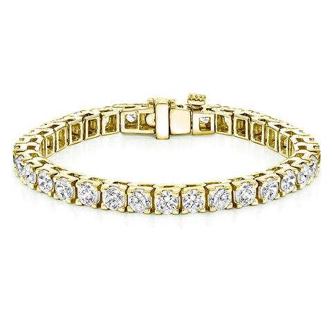 Auriya 16 1/4ctw Diamond Tennis Bracelet 18k Yellow Gold - 7-inch