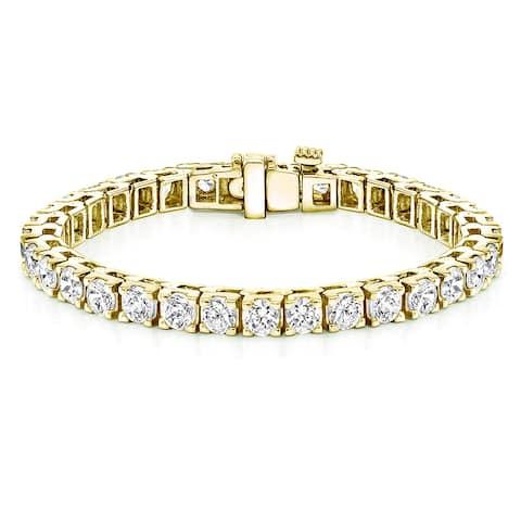 Auriya 16 1/4ctw Round Diamond Tennis Bracelet 14k Yellow Gold 7-inch
