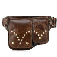 Vicenzo Leather Adonis Small Leather Waist Bag Waist Pack